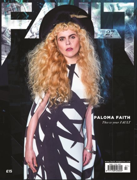 fault magazine issue 27 paloma faith reverse cover